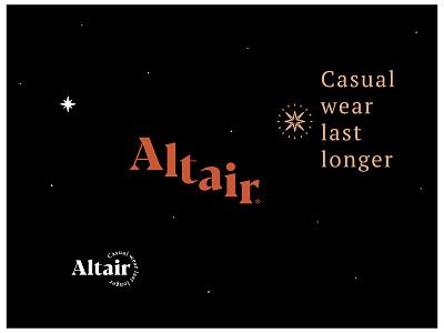Altair garment brand vector design symbol star fashion garments typography illustration branding logo