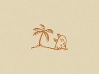 Giant Bird Stuck In The Sand Screaming At A Tree