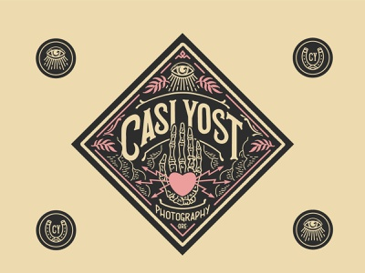 Identity package for Casi Yost Photography woodcut hand drawn photography logo photographers hand lettering lettering logodesign branding logo