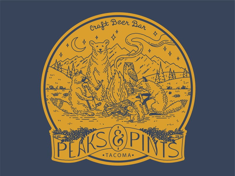 Forest Friends design for Peaks and Pints