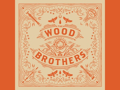 The Wood Brother bandana design