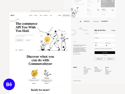 Hi Alfred! - Behance preview typography software product page magic landingpage landing illustration alfred