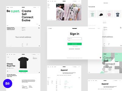 Popshop - Behance preview e-commerce store architecture spread share designs share sell platform merchandise create artwork artist art