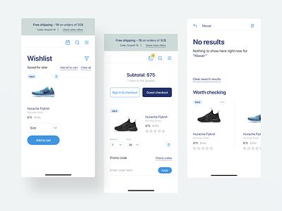 Visual exploration wishlist e-commerce shoes app store shoe