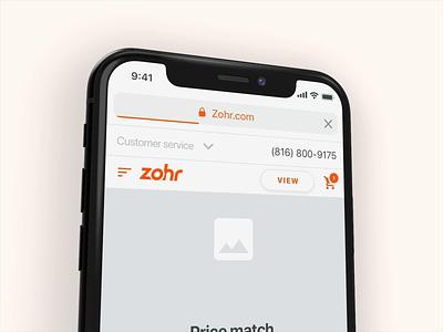 Zohr - Help & more wireframe design helpdesk help