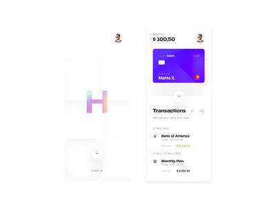 Transactions - Visual exploration mobile app