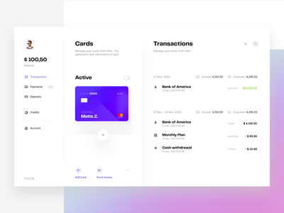 Transactions - Visual exploration list