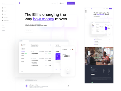 Transactions - Visual exploration bank app bank page ui