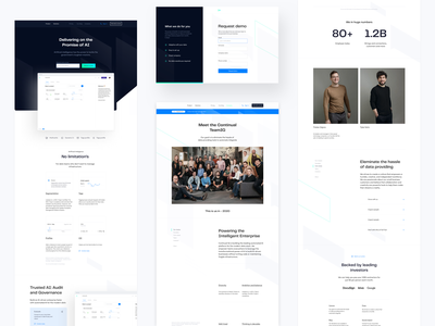 ContinualIQ layouts saas landing page website