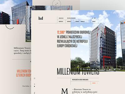 Towers - Landing page bureau landing page millennium towers