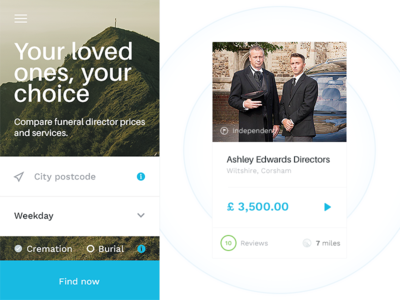 Funeral - Timemachine changes tests filters brand booking funeral