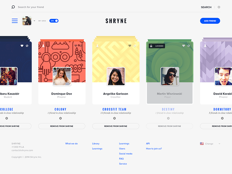 Shryne - Design like it's 2014 shryne search dashboard grid design