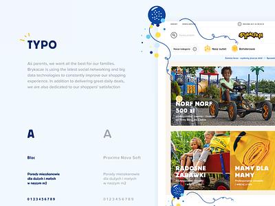 Behance presentation - Brykacze happy frisk e-commerce play store kids coloful color