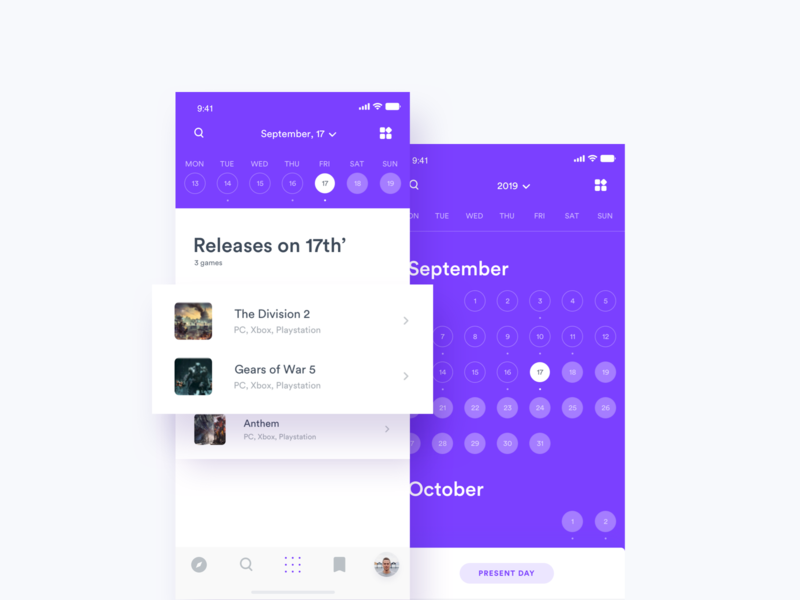 Gamefeed 2.0 - Calendar tonik game app calendar news rss game feed feed