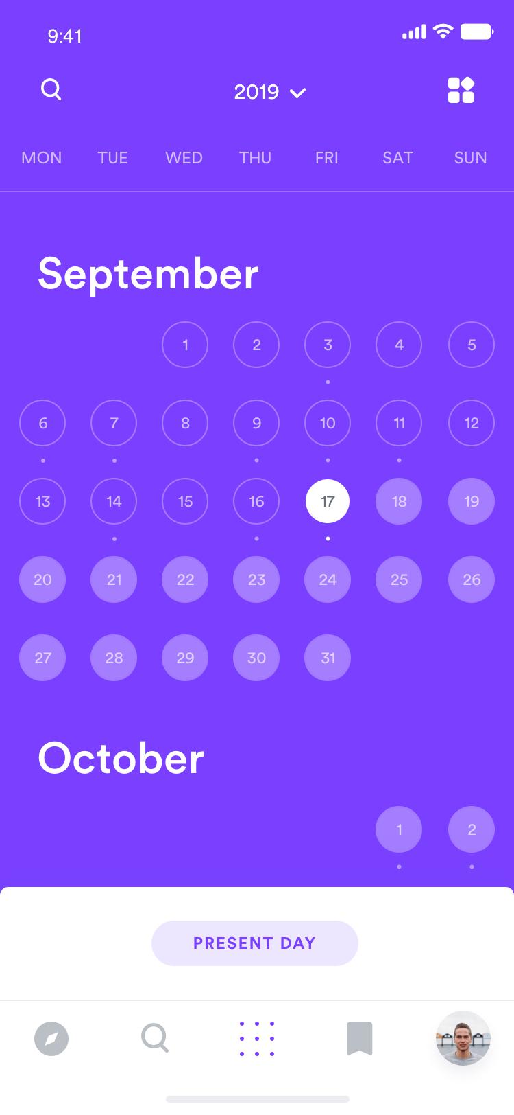Calendar  jump to date