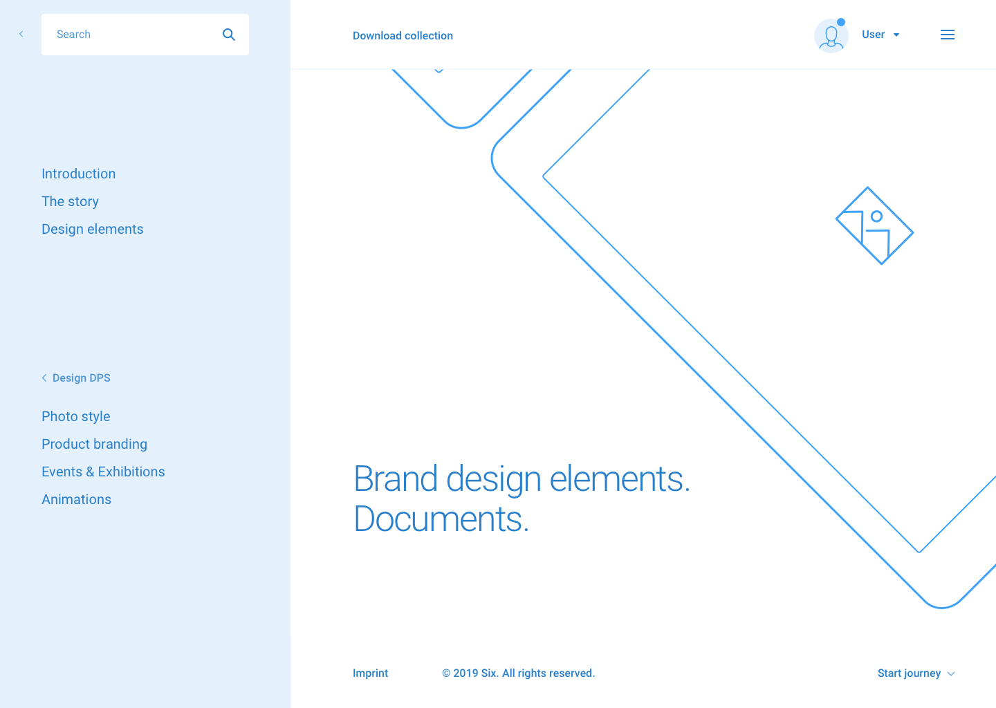 Brand design. desktop hd  menu link