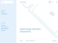 Brand design. desktop hd  menu link