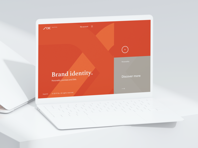 Six (Look&Feel) six orange web ux ui ux design register login brand portal design prototypes concept app concept