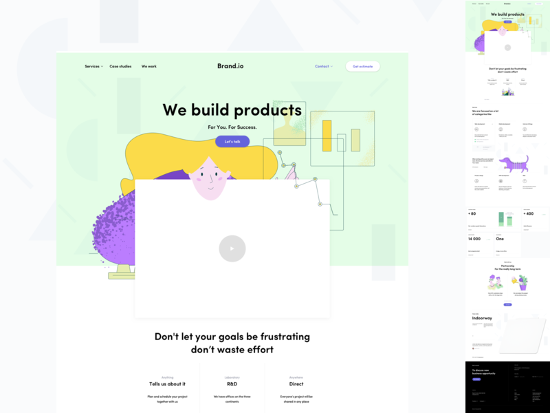 Landing Page ux ui ux website illustration estimate landingpage landing