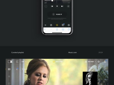 Music.com -  Behance case study social song webdesign themes story music app music ux behance casestudy showcase