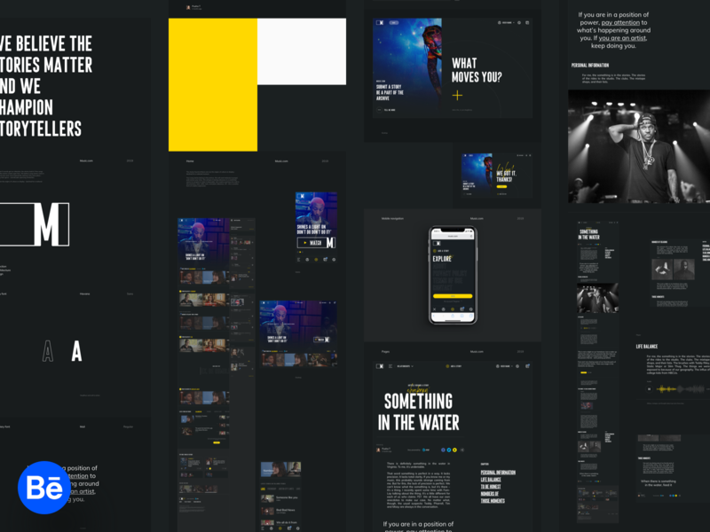Music.com -  Behance case study social song webdesign themes story music app music ux tonik behance casestudy showcase