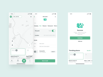 Adventure app - Wireframes (Lo/Fi)