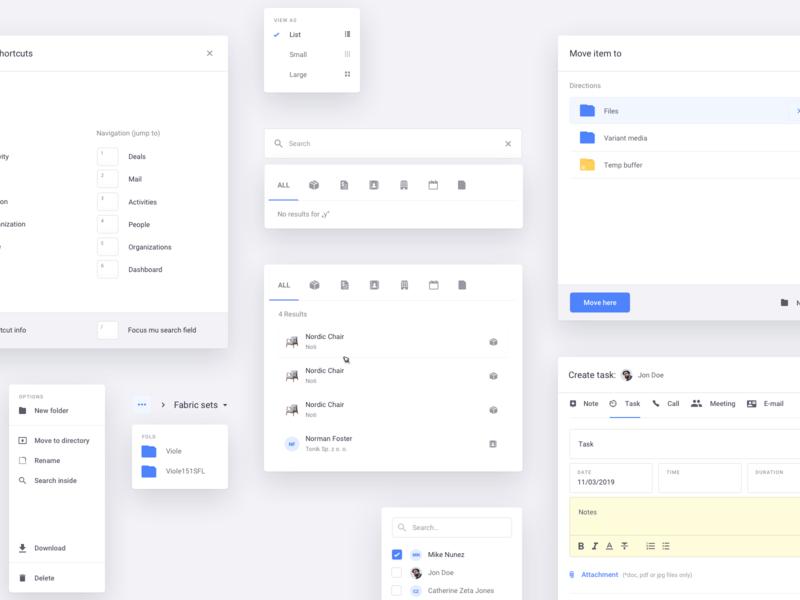 Mimeeq - UI Elements metrics layout editor dashboard forecast furniture ux elements interface ui design