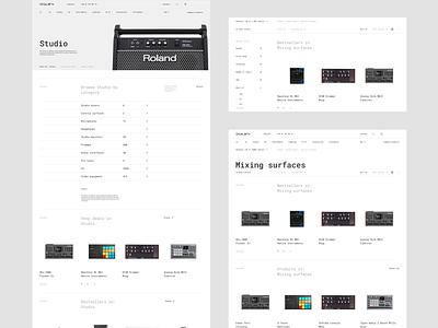 Skylark - Lists grid list minimalist results typography techno store roland mpc moog minimalistic minimal dj digital music