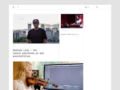 Skylark - Blog typography techno store music minimalistic roland moog mpc minimal dj blog digital music