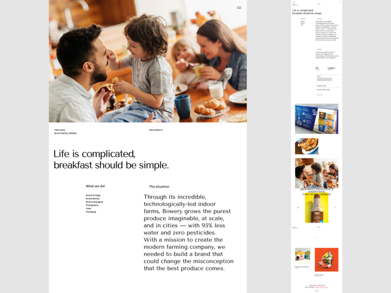 Mann' - Visual exploration (Realisation) typography portfolio product page realisation