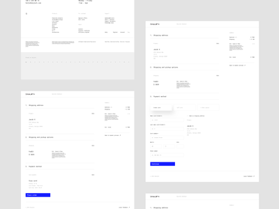 Skylark - Checkout techno moog mpc product e-commerce minimalistic account basket store checkout