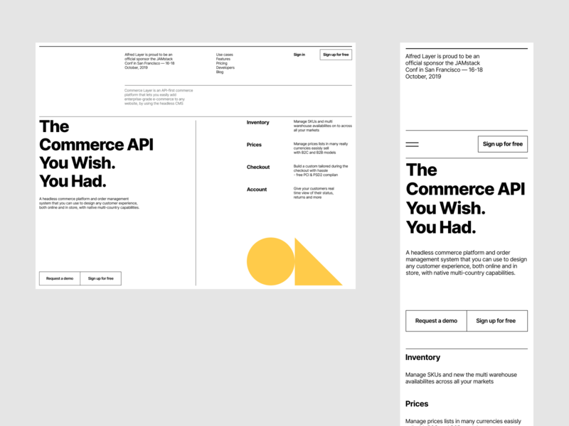 Hi Alfred! - Visual exploration yellow startup software typography landingpage magic monocolour typo alfred