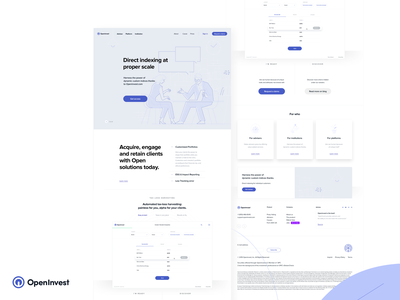 Openinvest - Redesign (Part one) technology tracking portfolios reports landing page market investing