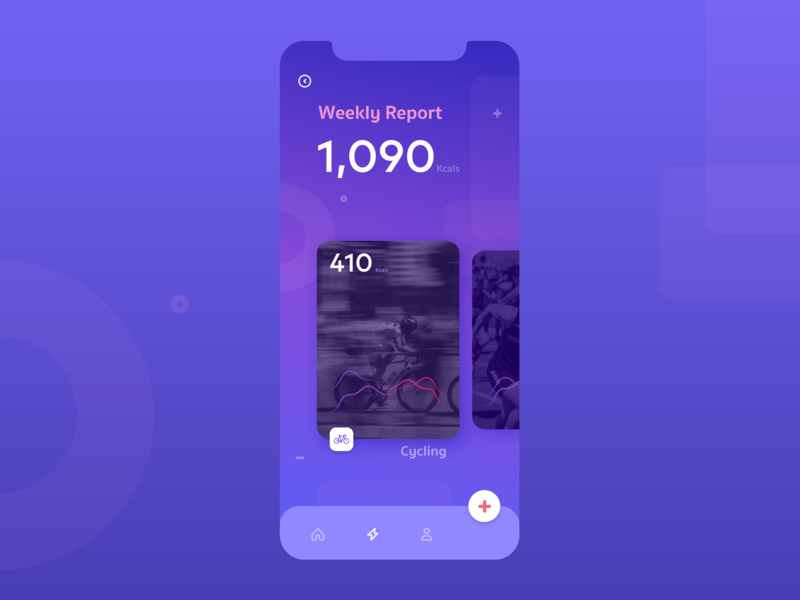 Concept for Fitness Tracking App sport app running cycling fitness fitness app flat app minimal consept appdesign ux ui design design ux uxdesign adobexd uidesign ui