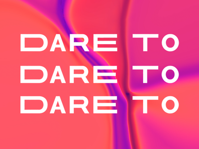 Dare To Logo retro illustration bold vector texture branding unique funky pink lettering design typography