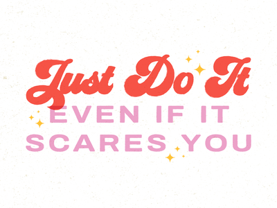 Just Do It kansas city strength make a move leap stars red pink color clean scary just do it illustrator texture illustration design lettering typogaphy