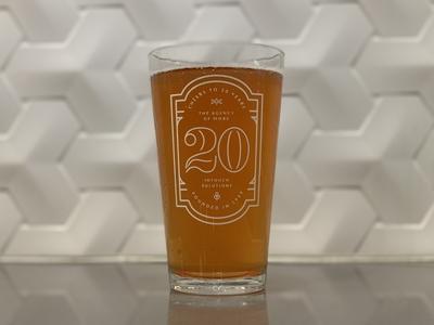 Anniversary Pint Glass
