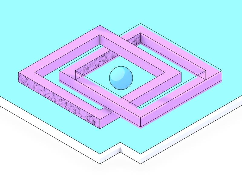 Pink Illusion cinema4d 3d illustration illusion