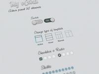 Admin panel UI elements wip