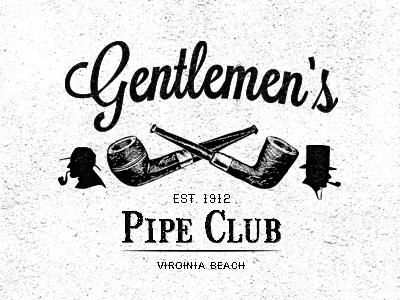 gentlemen u0026 39 s pipe club by comn design co