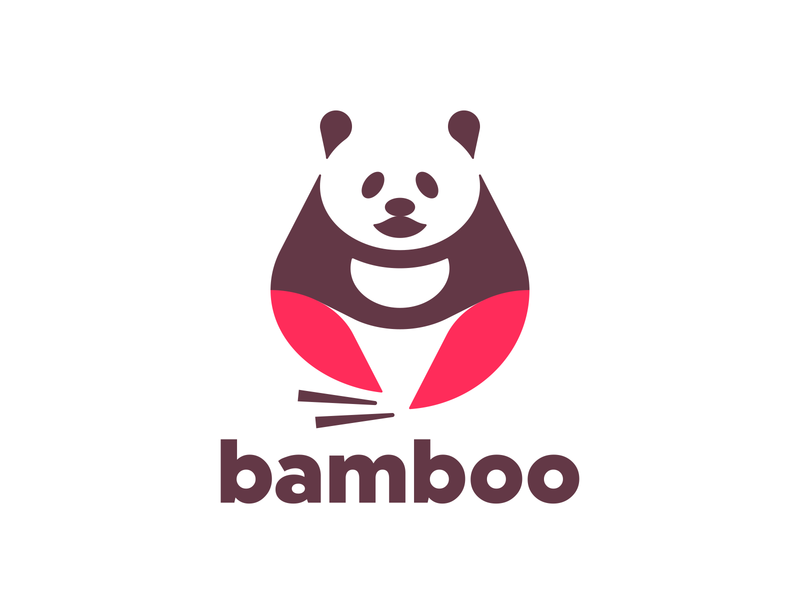 Panda Logo vector panda logo panda bear panda modern mark logotype logo design logo illustration identity design design dailylogochallenge daily logo challenge daily challenge custom logo design branding bamboo logo bamboo animal