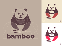 Panda Logo Concept — Underlying Grid