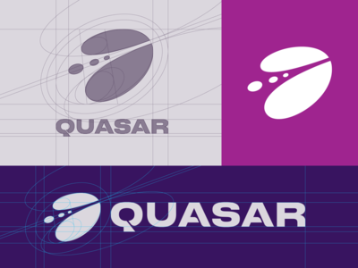 Quasar Logo — Construction Grid