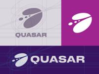 Quasar Logo — Construction Grid