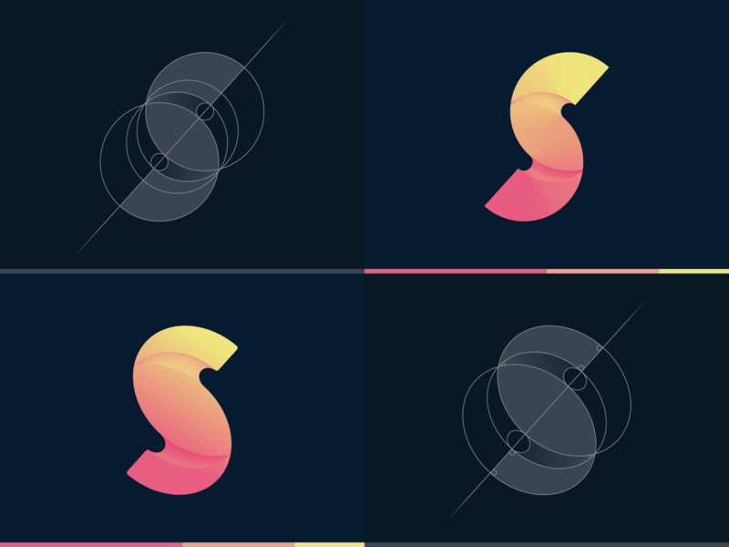 Letter S exploration custom logo design design icon mark vector logo grid monogram creative s letter s logo letter s lettermark letter logo design logotype logo gradient colorful