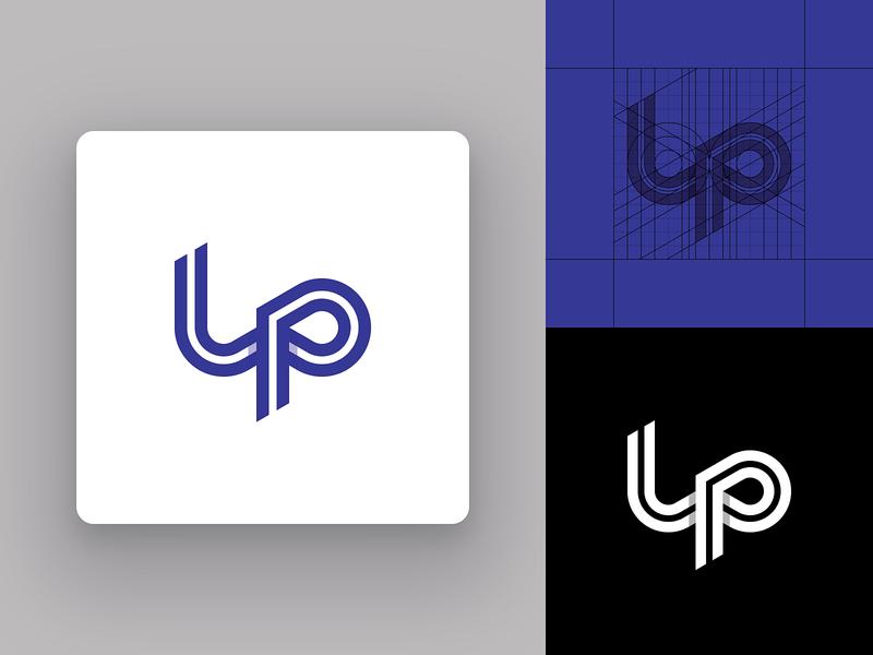 LP Monogram Concept 2 vector typography symbol monogram modern logo mark logotype logo grid logo design logo letters lettermark identity design icon design icon geometric design flat logo design design custom logo design branding