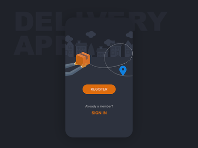 Delivery App mobile android ios ux design ui app package delivery login sign up registration