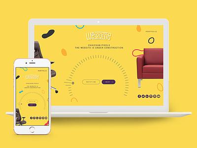 Chaickan - Furniture website chair mobile responsive welcome elegant furniture website ux ui design landing page web