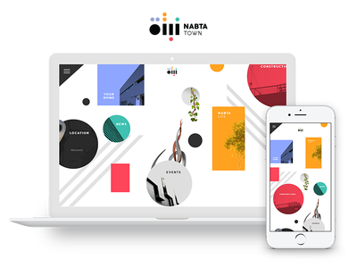 Nabta Town - Website Concept architecture art real estate city town screen full full width ux ui web
