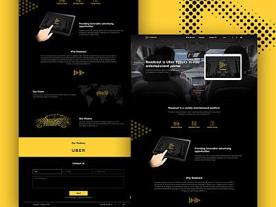 Roadcast Landing Page entertainment halftone uber tablet design ux ui page landing web